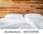 close up white bedding sheets... | Shutterstock . vector #304703930