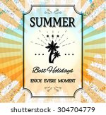 colorful  striped  summer... | Shutterstock .eps vector #304704779