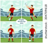 rugby world cup 2015 vector... | Shutterstock .eps vector #304709618