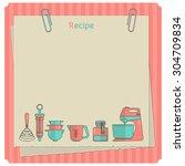 sweet recipe vector card...   Shutterstock .eps vector #304709834