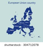 Map Of European Union With Al...