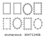 set  collection  group of black ... | Shutterstock .eps vector #304712408