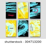 set of the grunge card... | Shutterstock .eps vector #304713200