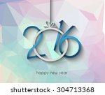 2016 merry chrstmas and happy... | Shutterstock .eps vector #304713368