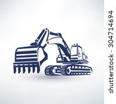 excavator symbol  stylized... | Shutterstock .eps vector #304714694