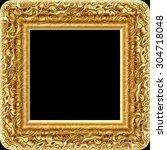 golden decorative digitally... | Shutterstock . vector #304718048