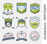 set of golf club  golf... | Shutterstock .eps vector #304732604