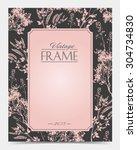 vector vintage frame retro... | Shutterstock .eps vector #304734830