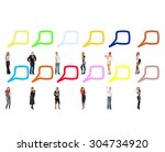standing and talking common... | Shutterstock . vector #304734920