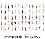 corporate culture people... | Shutterstock . vector #304734938