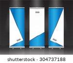 roll up banner stand design.... | Shutterstock .eps vector #304737188