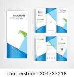 brochure template design vector. | Shutterstock .eps vector #304737218