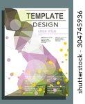 abstract polygon design vector... | Shutterstock .eps vector #304745936