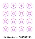 web icons | Shutterstock .eps vector #304747943