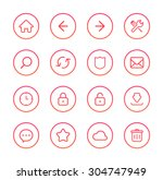 web icons | Shutterstock .eps vector #304747949