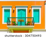 details from an old house in... | Shutterstock . vector #304750493