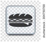 subway sandwich on transparent... | Shutterstock .eps vector #304750700