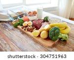 balanced diet  cooking ...   Shutterstock . vector #304751963