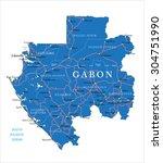 gabon map   Shutterstock .eps vector #304751990