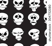 hand drawn cartoon pattern of... | Shutterstock .eps vector #304752080