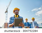 business  building  industry ... | Shutterstock . vector #304752284