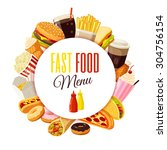 """fast food menu"" label with... 