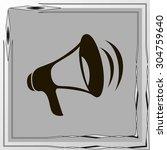 loud hailer symbol | Shutterstock .eps vector #304759640