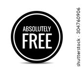 free. free badge. free stamp.... | Shutterstock .eps vector #304760906