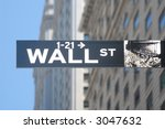 wall street sign  manhattan ... | Shutterstock . vector #3047632