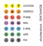 colorful icons for business... | Shutterstock .eps vector #304764428