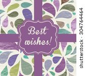 Vintage Ribbon Card On Floral...