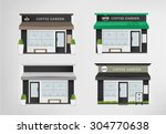cafe restaurant shop and bakery.... | Shutterstock .eps vector #304770638