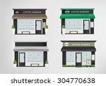 cafe restaurant shop and bakery....   Shutterstock .eps vector #304770638