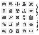 car and mechanic vector icon...   Shutterstock .eps vector #304771463