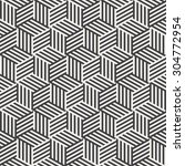 stripe cube pattern | Shutterstock . vector #304772954