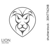 lion. head. isolated animal on...