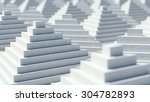 abstract 3d pyramids... | Shutterstock . vector #304782893