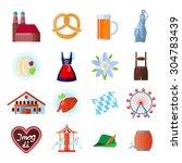 set of oktoberfest vector icons ... | Shutterstock .eps vector #304783439
