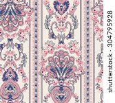 seamless paisley background.... | Shutterstock .eps vector #304795928