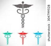 caduceus medical symbol. set of ... | Shutterstock .eps vector #304799528