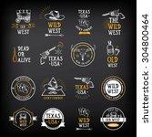 wild west badges design.... | Shutterstock .eps vector #304800464