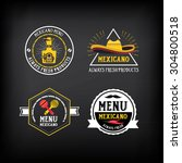 menu mexican logo and badge... | Shutterstock .eps vector #304800518