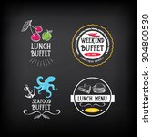buffet menu  restaurant design. ... | Shutterstock .eps vector #304800530