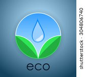 vector illustration of eco icon.... | Shutterstock .eps vector #304806740