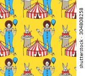 sketch circus  in vintage style ... | Shutterstock .eps vector #304808258