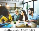diverse people office... | Shutterstock . vector #304818479