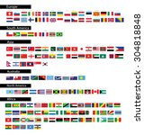 flag of the world. vector... | Shutterstock .eps vector #304818848