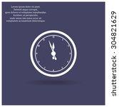 mechanical clock. icon. vector... | Shutterstock .eps vector #304821629