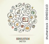 education hand drawing... | Shutterstock .eps vector #304831610