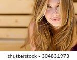 beautiful woman smiling | Shutterstock . vector #304831973